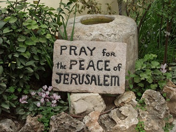 Sign found in the Garden Tomb, Jerusalem, Israel