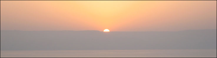 Sunrise over the Golan Heights in Israel